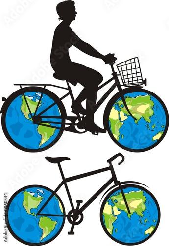 Fotografie, Obraz  bike is a world