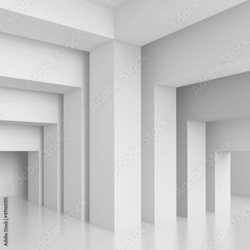 Naklejka na szafę Geometryczne i trójwymiarowe puste pomieszczenie