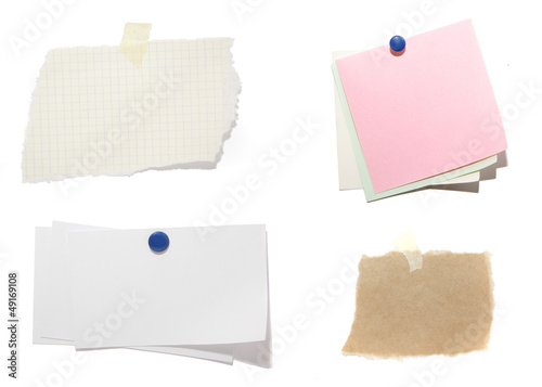 Obraz notes on white background with clipping path - fototapety do salonu