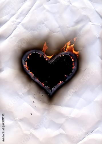 Poster Flamme Heart