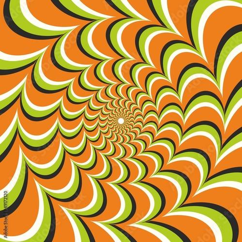 Wall Murals Psychedelic Optical illusion ellipse orange