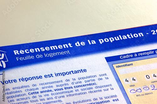 Fényképezés document de recensement de la population française