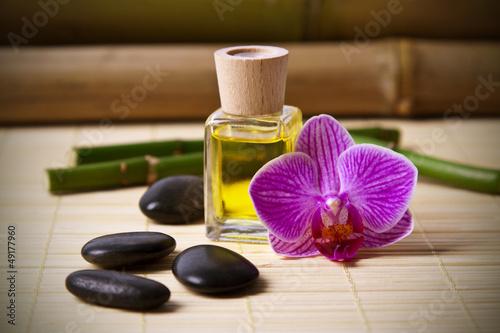 Fotografía  aceite y aroma del spa