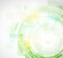 Abstract Blur Eco Green Computer Technology Business Background