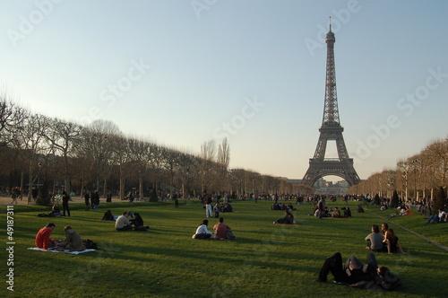Fotografia  Tour Eiffel au bout du champ de mars