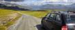 Unterwegs in Norwegen (Auto auf Bergstrasse)