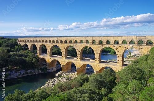 Spoed Foto op Canvas Artistiek mon. Pont du Gard 34