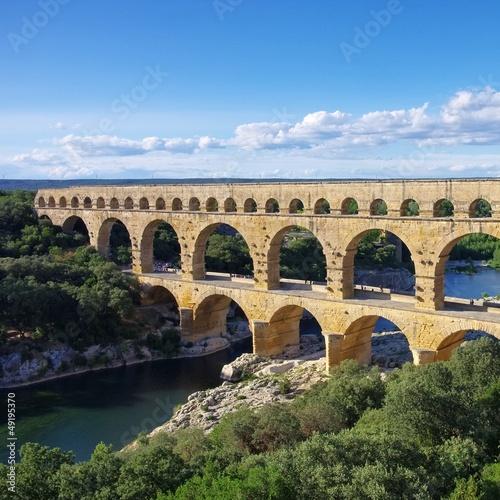 Spoed Foto op Canvas Artistiek mon. Pont du Gard 35