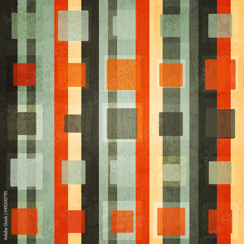 Photo  abstract orange square seamless with grunge effect