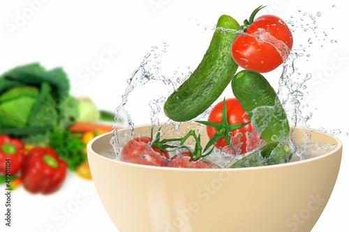 Recess Fitting Splashing water Gemüse 223