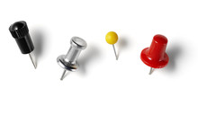 Assorted Drawing Pins Isolated