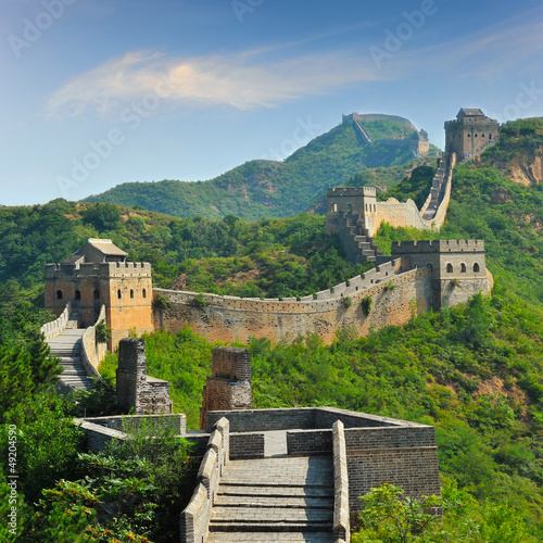 Foto op Aluminium Beijing Great Wall of China in Summer with beautiful sky