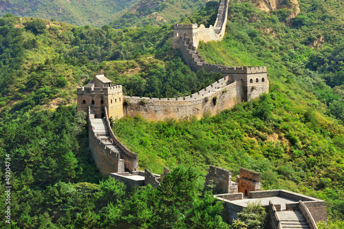 Deurstickers Chinese Muur Chinese Great Wall in Summer