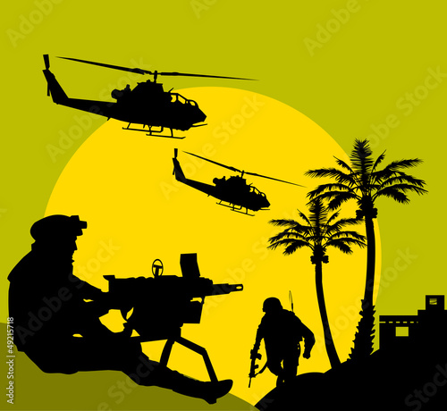 Poster Militaire midnight patrol