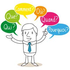 Geschäftsmann, Qui, Que, Comment, Où, Quand, Pourquoi