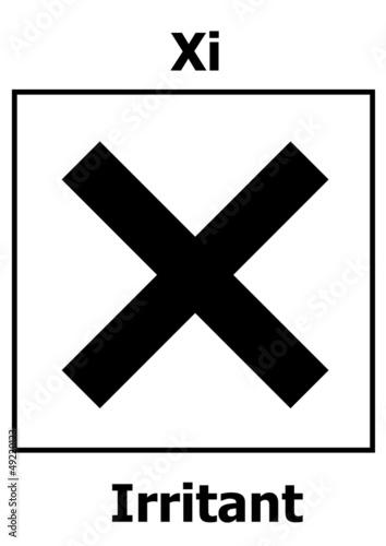 Fotografie, Obraz  Hazard symbol irritant
