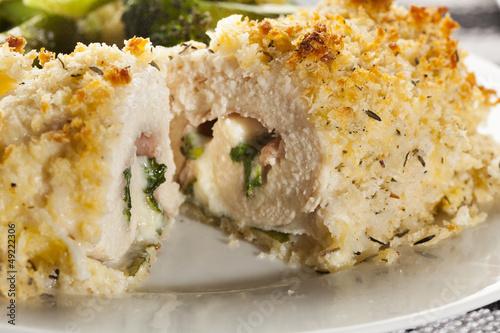 Photo  Breaded Homemade Chicken Cordon Bleu