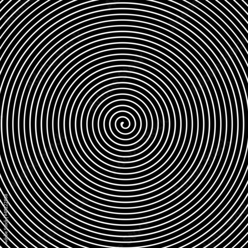 Black and white hypnotic vector background - 49222888
