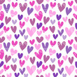 Seamless pattern with a lot of hearts