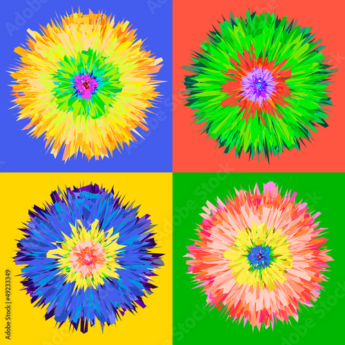 Pop art flower, vector Eps 10 illustration. - 49233349