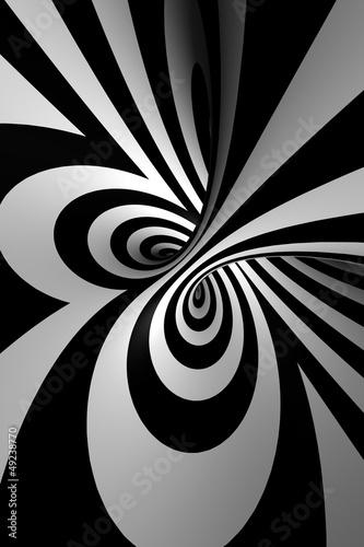 Plakat 3D streszczenie spirali