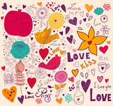 Vector Valentine Greeting card