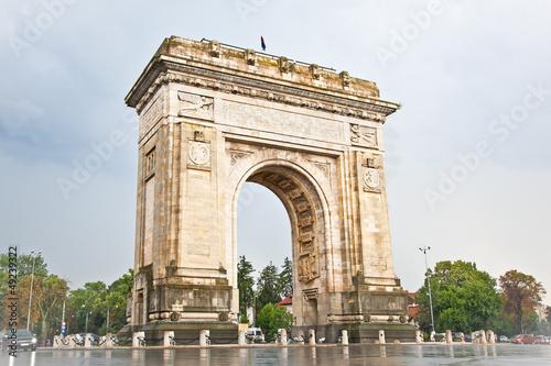 Triumph Arch in Bucharest, Romania.