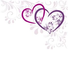 NaklejkaHintergrund Herzen