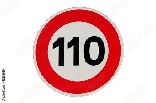 Fotografie, Obraz  Limitation de vitesse à 110 km/h