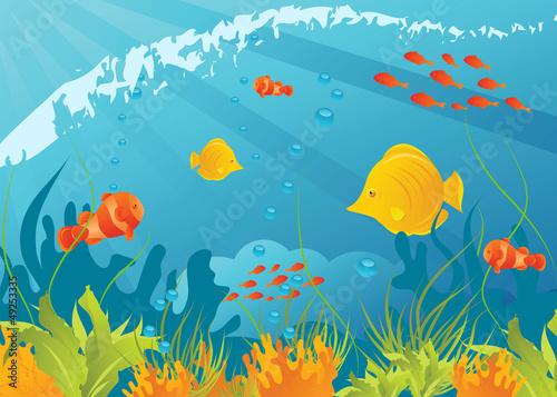 Recess Fitting Submarine Underwater background
