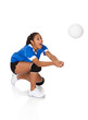 Surprised Young Girl Playing The Volleyball