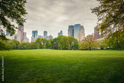Obraz Central park at rainy day - fototapety do salonu