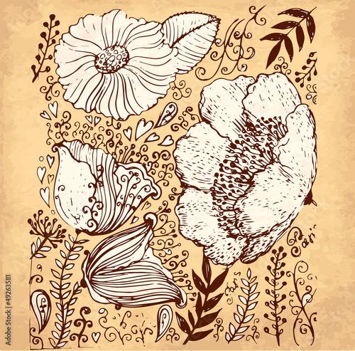 wektorowa-reka-rysujaca-ilustracja-z-kwiatami