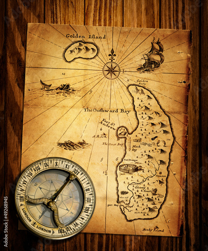 Old Compass And Vintage Maps Buy This Stock Photo And Explore - Buy vintage maps