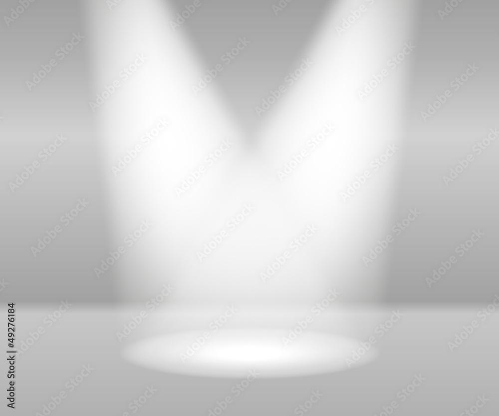 Obrazy na płótnie i fototapety na ścianę: Product Presentation White Lights Abstract Vector