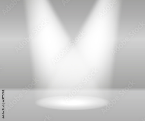 Fototapety, obrazy: Product Presentation White Lights Abstract Vector
