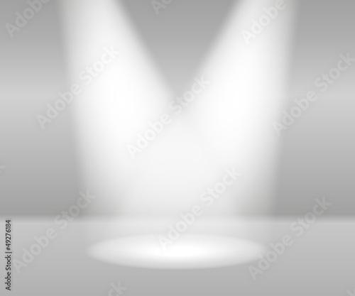 Obraz Product Presentation White Lights Abstract Vector - fototapety do salonu