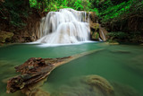 Waterfall in tropical forest, west of Thailand