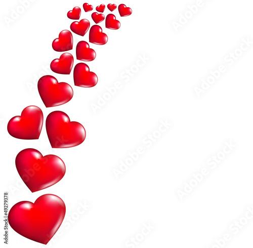 Fotografija Abstract background with Hearts
