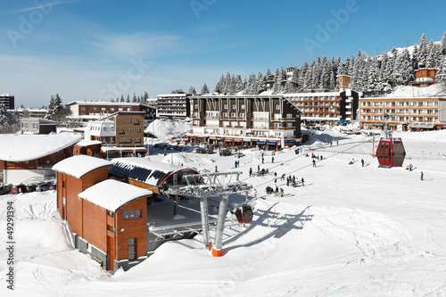 Fotografia  station de sport d'hiver