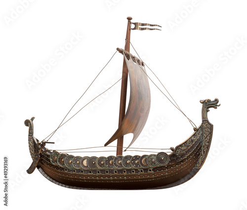 Keuken foto achterwand Schip Viking Ship isolated