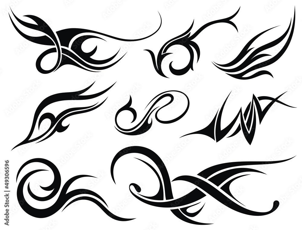Fototapeta Tribal tattoo set