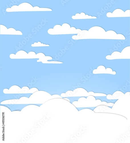 Poster Hemel Good weather background. Blue sky with clouds