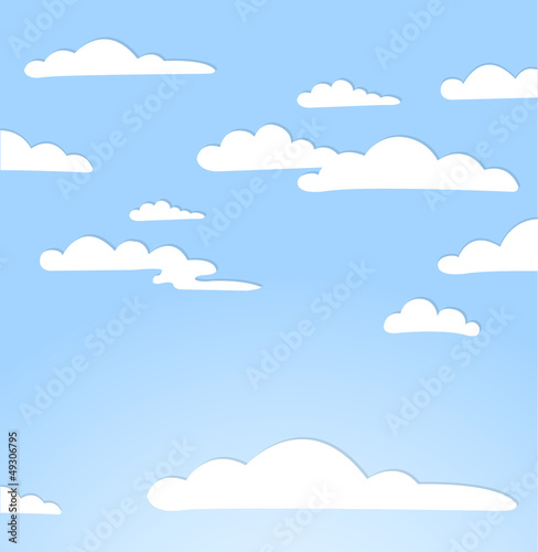 Foto op Aluminium Hemel Good weather background. Blue sky with clouds