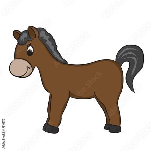 Poster Ranch Cartoon horse - vector illustration.