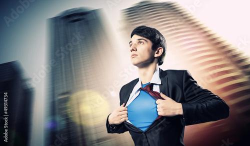 Fényképezés  Young superhero businessman