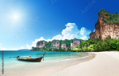 Foto-Rollo - Railay beach in Krabi Thailand (von Iakov Kalinin)