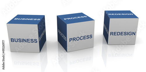 Fotografie, Obraz  BPR - Business process redesign