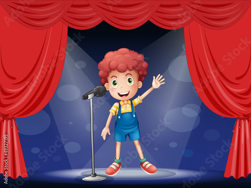 Foto-Kassettenrollo premium - A boy performing on the stage