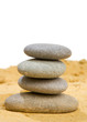 sand and rock for harmony and balance in pure simplicity